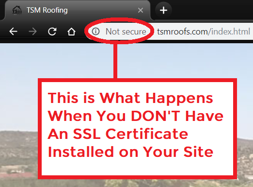 example-of-roofing-website-that-does-not-have-an-ssl-certificate-installed