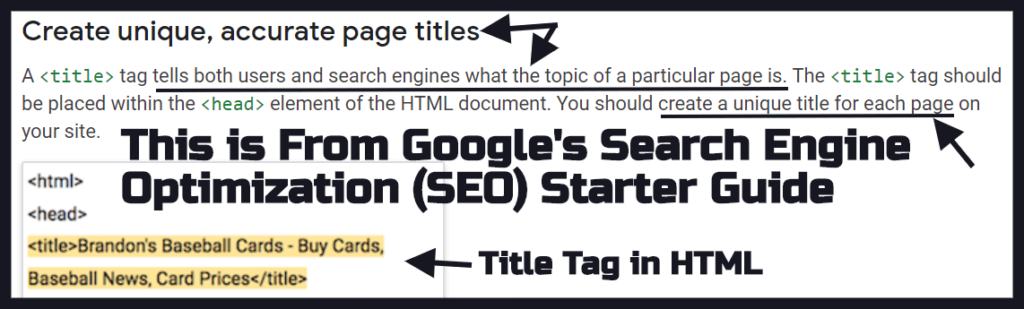"Title Tag Best Practices from Google's ""Search Engine Optimization (SEO) Starter Guide"""