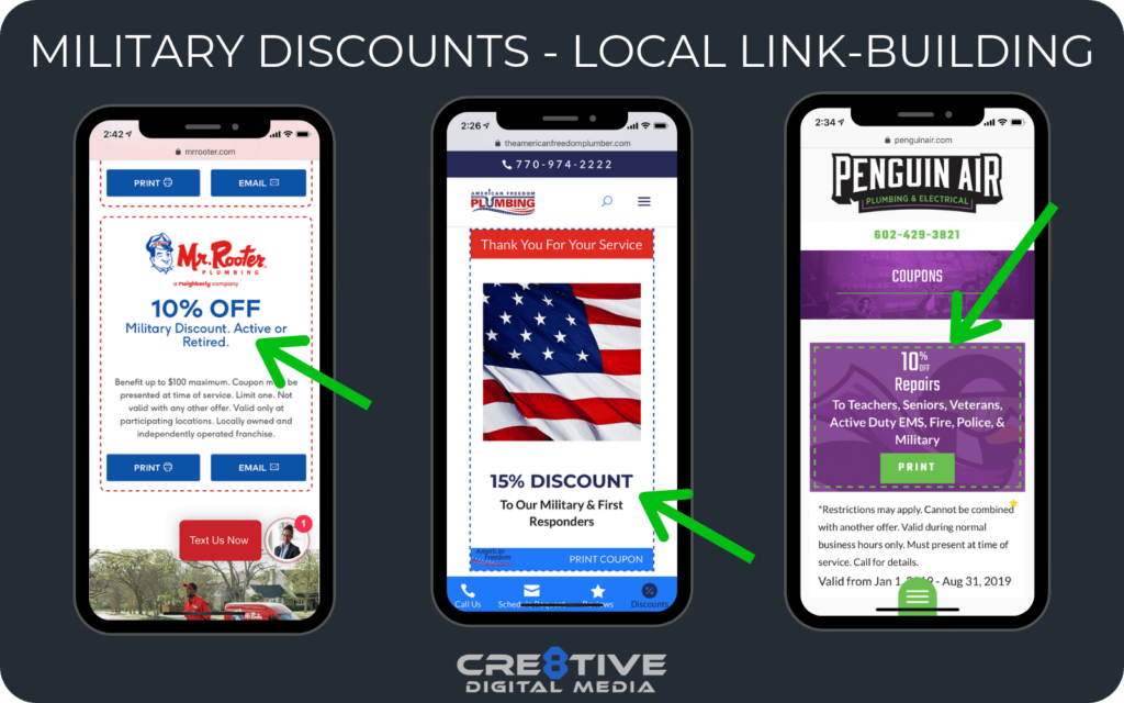 Military Discounts - Local Link Building Strategy for Plumbers