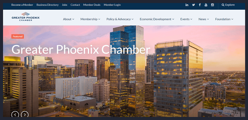 Phoenix Chamber of Commerce Website