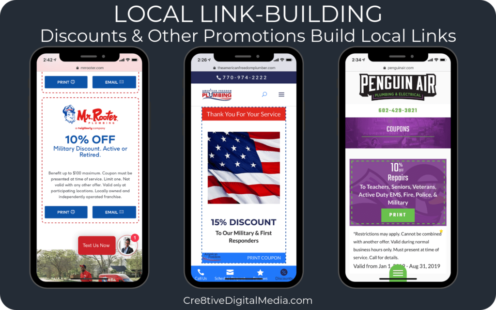 Discounts - Local Link Building Strategy for small businesses