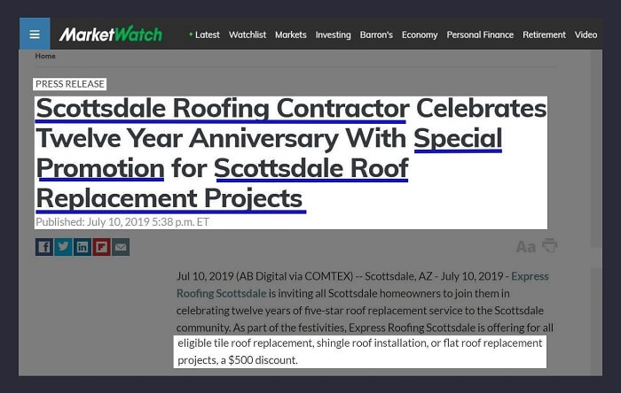 Offer Local Discounts - Local Link Building Strategy for Roofers