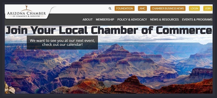 Arizona Chamber of Commerce & Industry Website