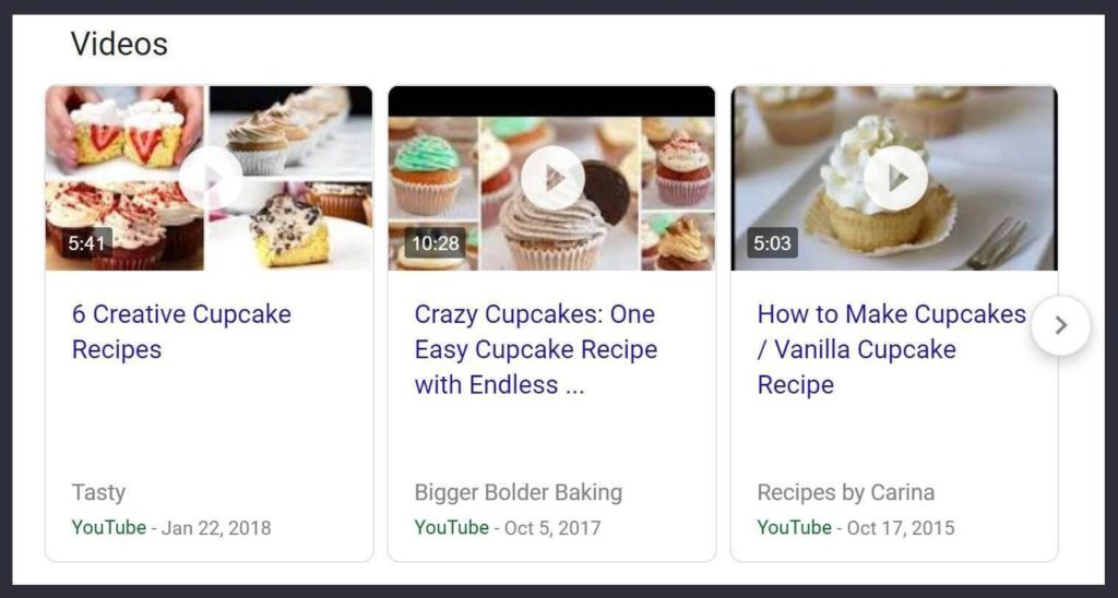 Video Rich Snippet in SERPs