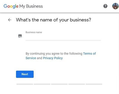 Google My Business-Step 1-Enter The Name of Your Real Estate Agency