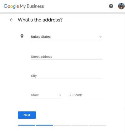 Google My Business-Step 3-Enter your real estate agency's address