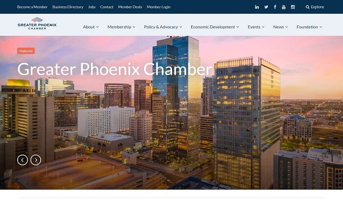 Local link-building strategy-Join Local Business associations like the Greater Phoenix Chamber of Commerce